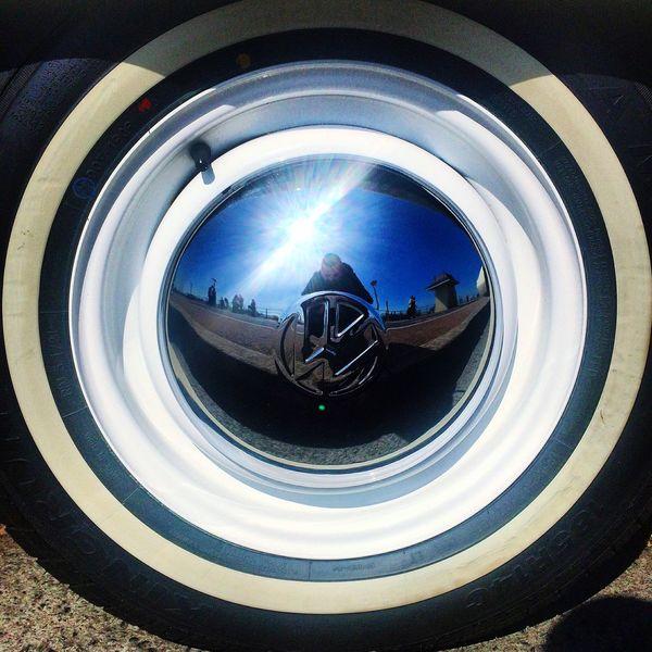 Brighton Rims Shiny Car Wheel Volkswagen Volkswagon Reflection Selfportrait England