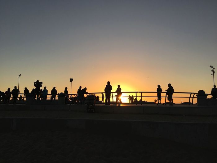 Sunset Real People Silhouette Lifestyles Large Group Of People Beauty In Nature Skateboard Park