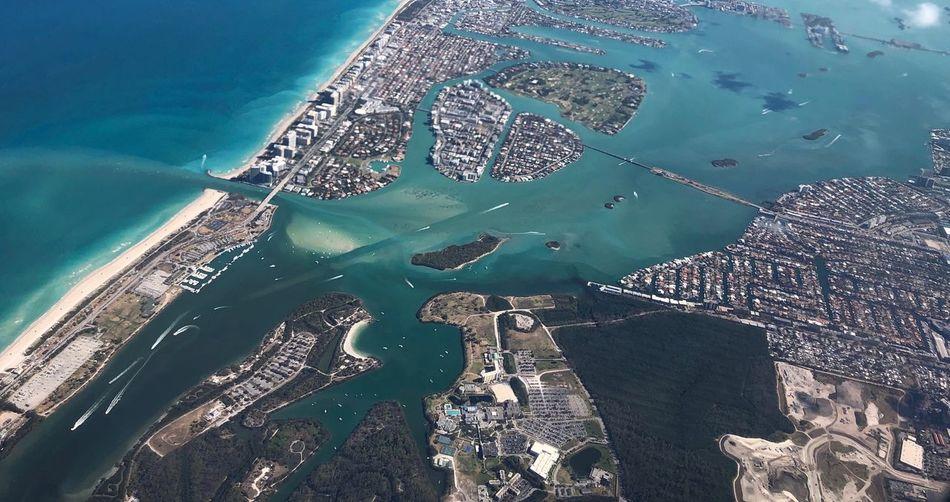 Over the Coast Florida Coast Florida Coastline Water High Angle View Aerial View Travel West Palm Beach Sea Above Flight Florida Tourism Travel Destinations
