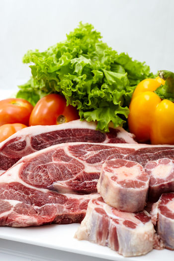 Beef Close-up Day Food Food And Drink Freshness Ham Indoors  Meat No People Pork Prosciutto Raw Food Serving Size SLICE Steak Variation Vegetable