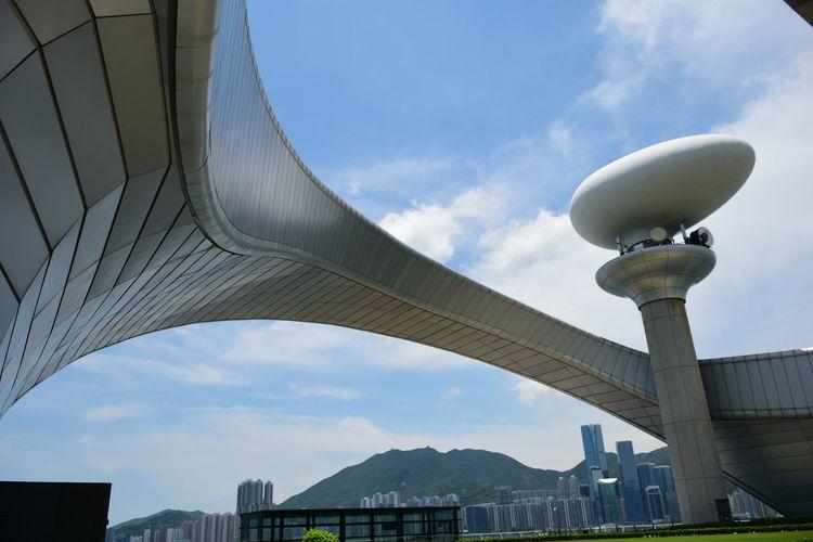 Kai Tak City Cityscape Modern Steel Urban Skyline Futuristic Architectural Column Sky Architecture