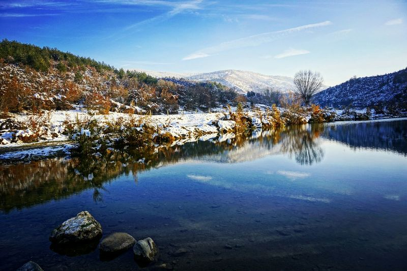 Lake Lake View Winter Wintertime Winterscapes Clouds And Sky Water Reflections Water_collection Water Landscape Landscape_Collection Landscape_photography Nature_collection Cold Beautiful Nature Amazing View Snow Snow ❄ Nature EyeEm Nature Lover Landscapes Mountain Sony A6000 Mountain View Nature_perfection