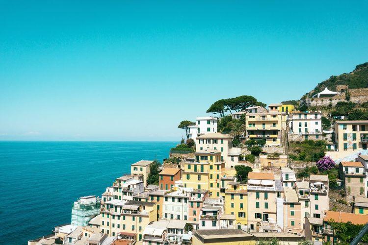 Riomaggiore Cinque Terre Liguria Colors Architecture Village Sea Water Sky Architecture Building Exterior Built Structure Nature