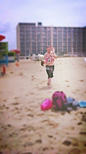 RePicture Giving Firstbeachday Daddy's Girl Daddyloveshisbaby Sunny Day❤ Myloveforever❤