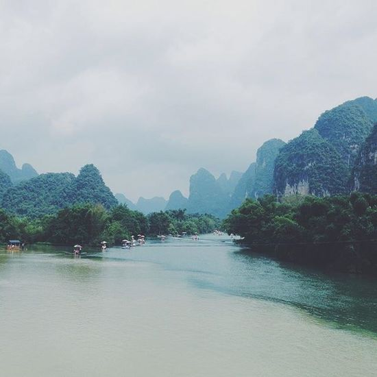 Wanderlust (n): a strong, innate desire to rove or travel about. Yulong Yangshuo Yulong River China Guilin River Traveling In China Travel Travelling Travel Photography VSCO Vscocam
