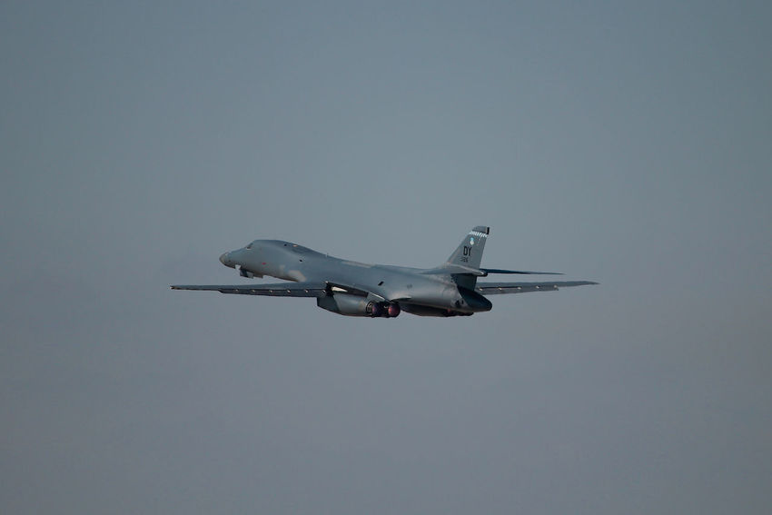 B-1B Afterburners Afterburner Air Force Air Vehicle Airplane Airshow B-1 Bomber B-1B Bomber Day Flight Flying Military Military Airplane Outdoors Sky Supersonic