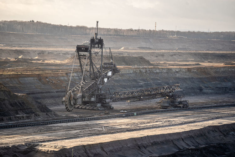 A lignite mine or lignite quarry is a open-cast mine where lignite is extracted. brown coal mine