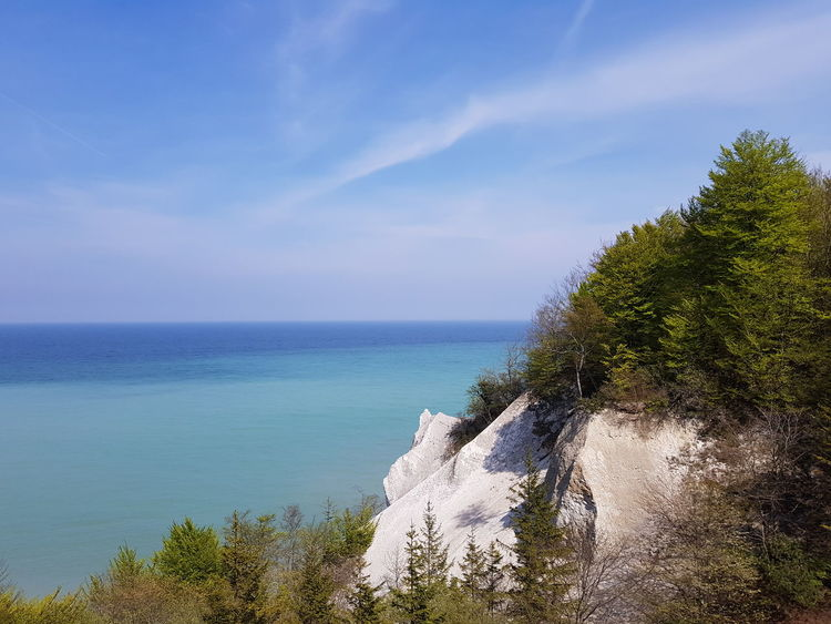 Sea Water Horizon Over Water Nature Day Scenics Tranquility Beauty In Nature Sky No People Nature Is Art Springtime Freshness Denmark Outdoors Nature Photography Tranquil Scene Idyllic Nofilter Cloud - Sky Møns Klint Samsung Galaxy S8+