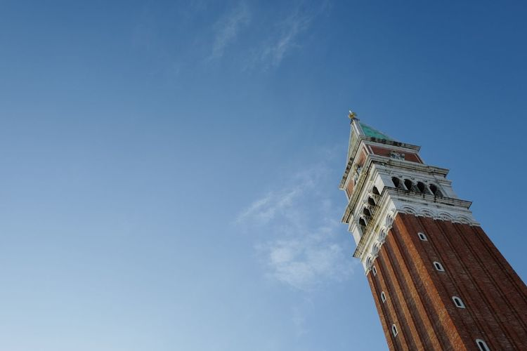 Blue skies Sky Architecture Outdoors Building Exterior Venice Tower Blue Sky Clear Sky