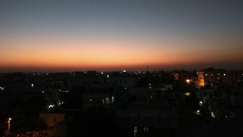 Night Cityscape City Illuminated No People Sunset Sky