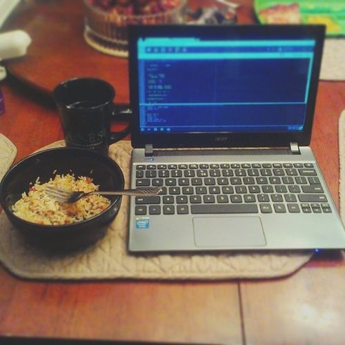 All work and no play may dull you but its profitable. #dinner #workhard Webdev Dinner Tea Coding Foodie Freelancer Foodporn WORKHARD Foodstagram Webdevelopment Friedrice Chromebook Freelance Freelancing Acerchromebook