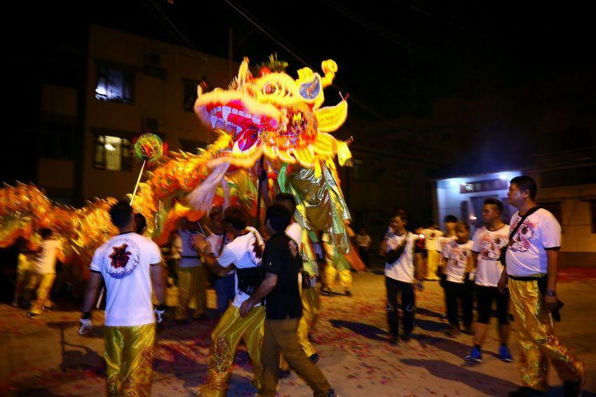 生龍活虎 - Dragon dance parade Night Lights Light And Shadow Light And Shadows Things I Like Dragon Dance Parade EyeEm Gallery EyeEm Masterclass Yeung Uk Tsuen Yuen Long Hong Kong