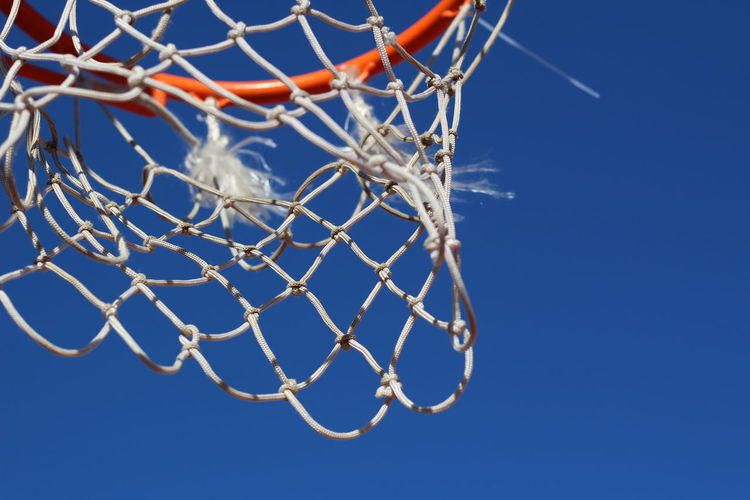 Utrecht , Netherlands Winter Basketball - Sport Basketball Hoop Blue Clear Sky Close-up Cold Temperature Day Low Angle View No People Outdoors Sky Sport