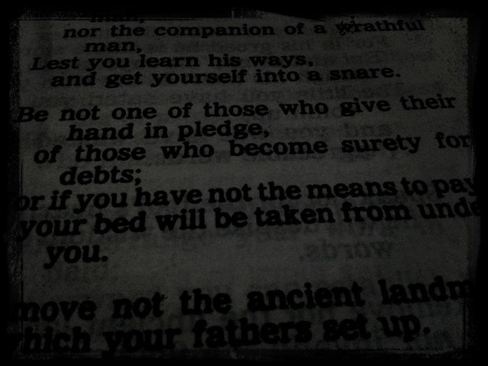 reading few verses bago matulog