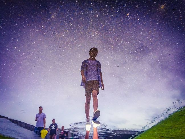 reflection Star - Space Men Sky Casual Clothing Enjoyment Tranquil Scene Star Field Outdoors
