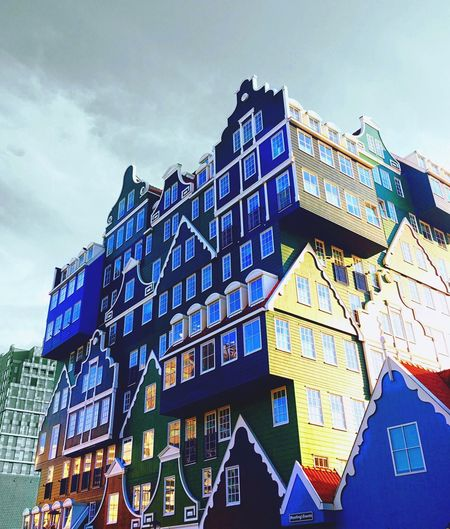 Building Exterior Low Angle View Architecture Sky Built Structure Outdoors Day City No People Cloud - Sky Zaandam IPhoneography Intell Hotel Photoshopfix Procamapp The Architect - 2017 EyeEm Awards Visual Feast Your Ticket To Europe