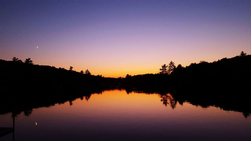 Sunsetcolors Sunsetreflections Maine Stunning Vibrant Beautiful Sunset Vibrant Colors Sunset Water Reflections Pond