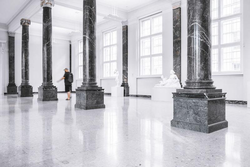 STAATSGALERIE STUTTGART 0711 Collection Ghost Herrschiller Large Group Of Objects Man Pillar Pillars Place Of Worship Staatsgalerie Stuttgart Surface Level Walking