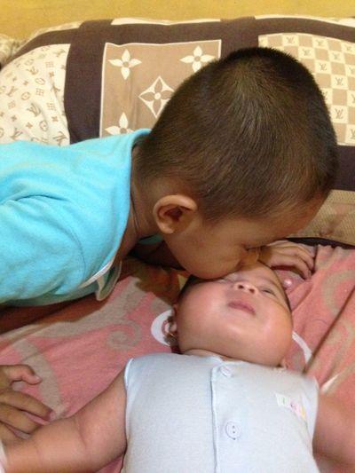 Nabil & Nabila Baby Babyhood Brother & Sister Close-up Happy Family Love My You My Sister Love ♥ My Sister ❤ First Eyeem Photo