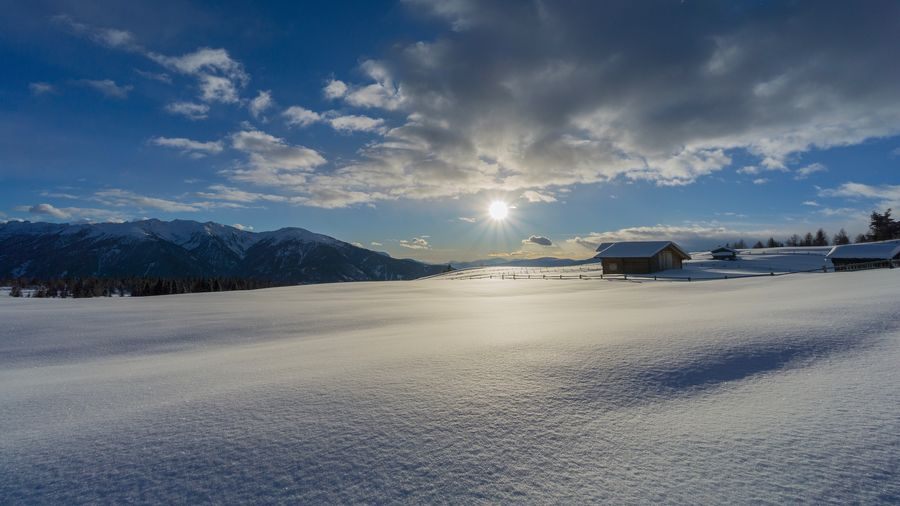 Winter Wonderland Winter Wonderland ❄ Cold Temperature Winter Snow Sky Cloud - Sky Tranquility Tranquil Scene Weather Scenics Nature Beauty In Nature No People Landscape Outdoors Mountain Day Architecture