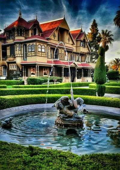 The Winchester Mystery House is the creepiest house in Silicon Valley,lb San Jose, CA and was built by Winchester Gun heiress Sarah Winchester, widow of William Wirt Winchester, son of the first president of the Winchester Repeating Arms Company over a period of almost 40 years. With 160 rooms, the mega mansion is a 6 acre labyrinth of false doors and stairs that lead absolutely nowhere. All additions were reportedly made by Winchester to confuse the evil spirits, that haunted her, of people shot and killed by the firearms of her dead husband's namesake. Winchestermysteryhouse Haunted California Check This Out