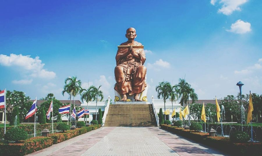 Buddha Statue No People Day Tree Sky Statue
