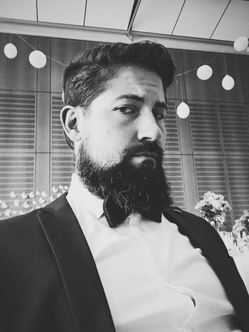 Adult Adults Only Beard Bearded Bearded Dragon Blackandwhite Bnw Bowtie Day Indoors  Lifestyles One Man Only One Person Only Men People Portrait Stayclassy Suit We Young Adult