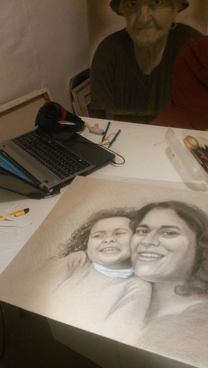 One more comission done under the watchfull eyes of my grand mother who died... ArtWork Art, Drawing, Creativity Drawings Art Pencil Drawing First Eyeem Photo