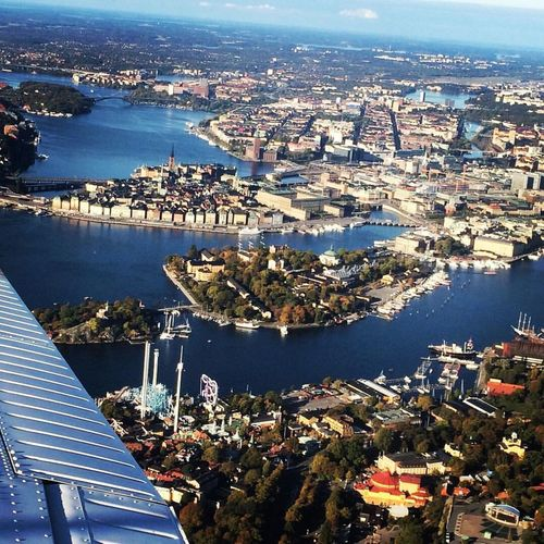 My view over Stockholm. Aerial View Architecture Travel Destinations City Stockholm Water
