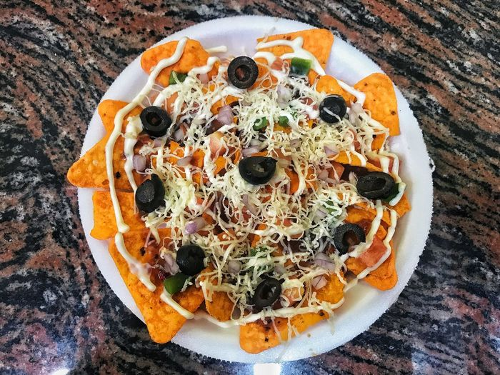 Nachos in the plate