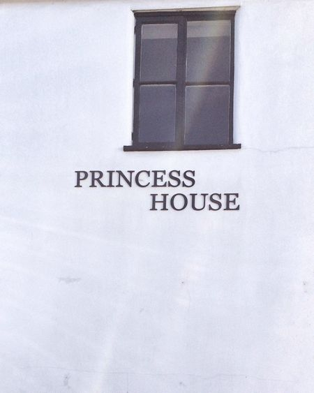 Window EyeEm Gallery Princess Window Text Western Script Communication No People Close-up Indoors  White Color Black Color Wall - Building Feature Sign
