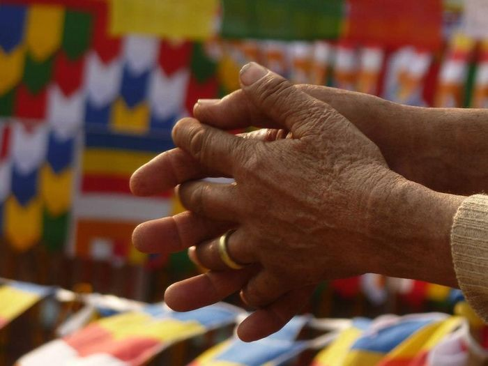 Buddhist Culture Praying Hands Praying Human Hand Human Body Part Focus On Foreground Close-up Indoors  Real People One Person Day Adult People EyeEm Ready