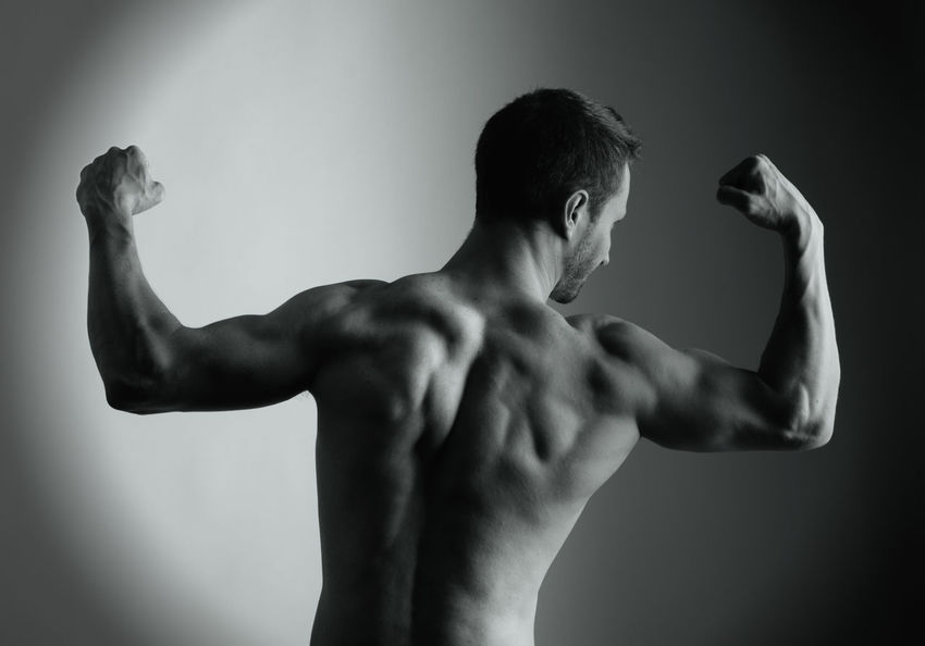 Black And White Body & Fitness Bodybuilding Bodyshot Lifestyles Muscle Man Shirtless Studio Shot
