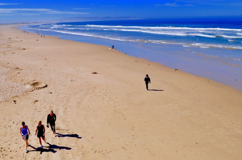 Pacific Coast 🎉💫✨ Land Beach Sea Sand Water Vacations Real People Nature Beauty In Nature People Group Of People Full Length Outdoors Men Leisure Activity Sky Holiday Trip Scenics - Nature High Angle View Land Holiday Vacations Day Beauty In Nature Motion Horizon Over Water Nature Trip