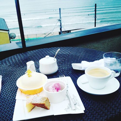 Drink Food And Drink Refreshment Table Tea - Hot Drink Plate Healthy Eating Tea Cup Drinking Glass Chair Cake Sea Cafe Surf Cup No People Water Day Outdoors Orange Juice  Ready-to-eat