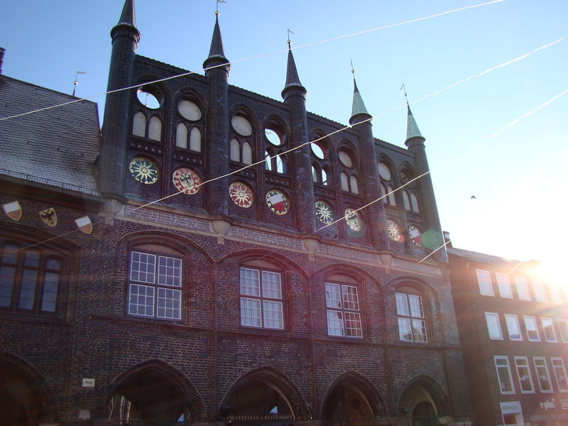 Architecture Building Exterior Clear Sky Germania Germany Lubecca Lübeck Rathaus Sunlight Window