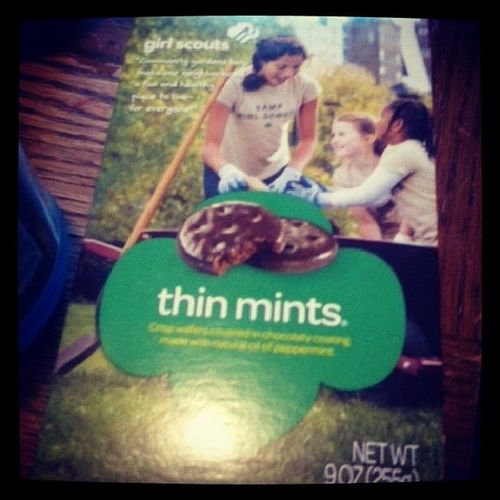 So my aunt bought me these today. Let's just say, once I'm not sick they're gone. xD Girlscouts Thinmints Cookies Lesbianism  lgbt lesbiansofinstagram