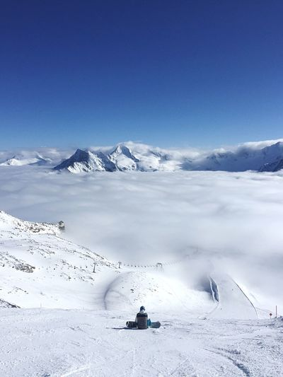 Above the clouds Lonely Alone Serene Alps Above The Clouds Austria Tyrol Snowboarding Snow Winter Cold Temperature Beauty In Nature Weather Nature Scenics Snowcapped Mountain Tranquil Scene Tranquility Frozen Mountain White Color Landscape Idyllic Adventure Day Sunlight Ski Holiday Outdoors