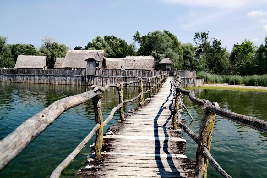 Pfahlbauten Pfahlbauten Pfahlbautenmuseum Bodensee Nature Photography My Point Of View Tree Water Lake Wooden Post Wood - Material Pier Sky Architecture Footbridge Scenics Tranquil Scene Horizon Over Water Coast Countryside Calm Bridge - Man Made Structure Stilt House