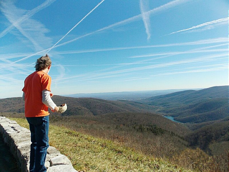 Vapor Trails Shenandoah National Park Road Trippin It! Travel Appalachian Mountains Nikon L810 Blue Skies