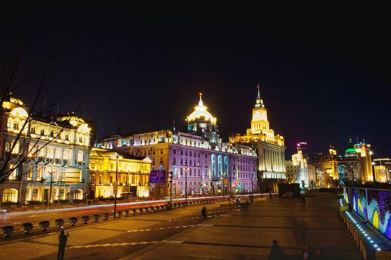 Cityscape City Night Shanghai Waitan Shanghai Bund Road Building Exterior Outdoors 3XSPUnity Night View Architecture