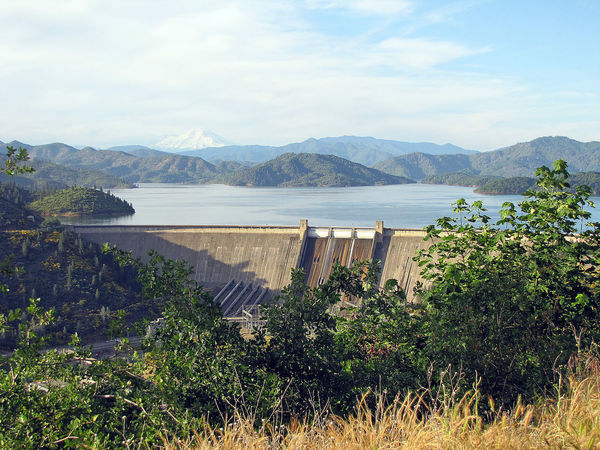Shasta Dam located in northern California Bridge Canal Day Distant Exploring Flowing Flowing Water High Angle View Holiday Lake Motion No People Outdoors Reflection River Shasta Dam Surrounding Wall Tranquil Scene Tropical Climate Water Waterfall