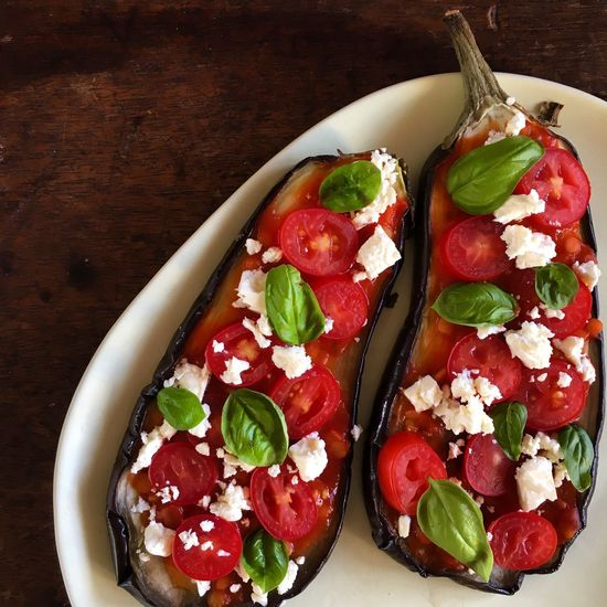 Aubergine Basil Eggplant EyeEmNewHere Vegetarian Food Activeandnourished Close-up Day Eggplant Pizza Feta Food Food And Drink Freshness Healthy Eating Indoors  No People Nutrition Pizza Ready-to-eat Salad Table Vegetable Vegetables Vegetarian Pizza Wholefoods EyeEmNewHere
