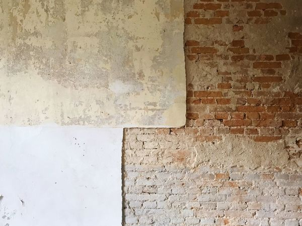 Plaster Brick Wall Wall - Building Feature Built Structure Pattern Textured  Architecture No People Old Weathered Damaged Day Full Frame Backgrounds Rough Wall