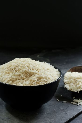 Basmati rice still life Basmati Rice Black Background Black Bowl Bowl Cooking Food Grains Indian Food No People First Eyeem Photo