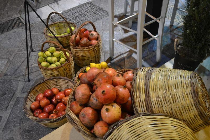 Athens Basket Food Freshness Fruits High Angle View Market Monastiraki Night No People Outdoors Vegetable
