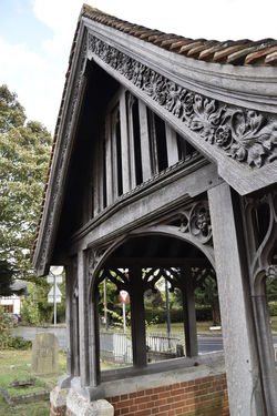 Architectural Column Architecture Bridge - Man Made Structure Built Structure Carving Day Earls Colne Essex Horizontal No People Outdoors Sky Tree Wood