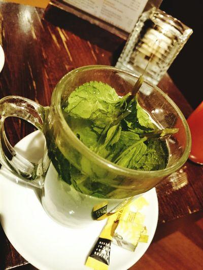 Enjoying a Fresh Mint Tea