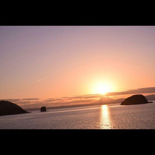 浅虫 むつ湾 風景 夕暮れ
