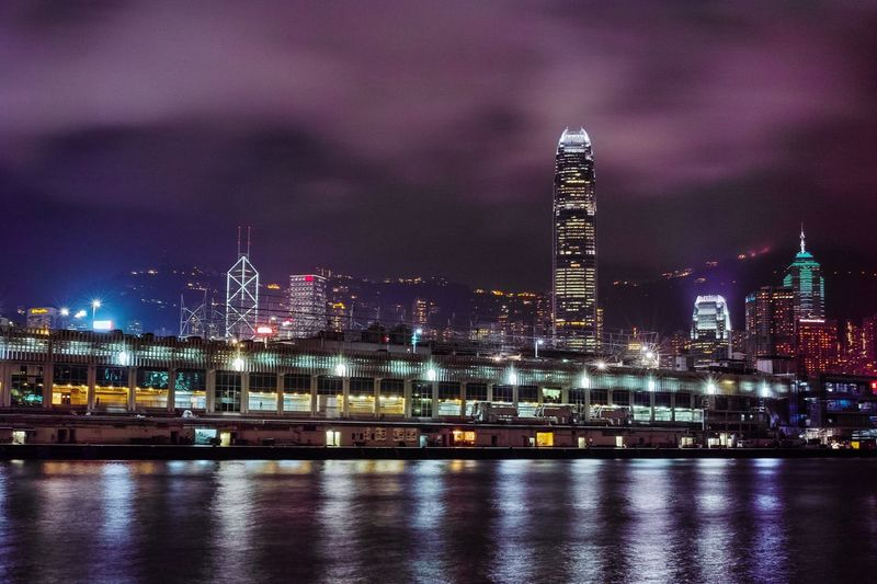 Victoria Harbour Architecture Illuminated Night Built Structure City Sky Waterfront Skyscraper Cityscape Citylights Night Photography Victoria Harbour Nightphotography Architecture HongKong Highrise Harbour Harbour View